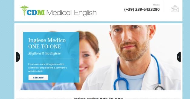 Sito per corsi di Inglese medico a Milano