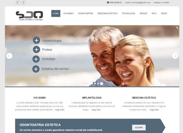 sito web per studio dentistico ed estitca