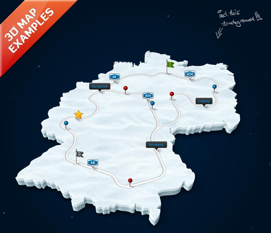 realizzazione mappe e cartine 3D