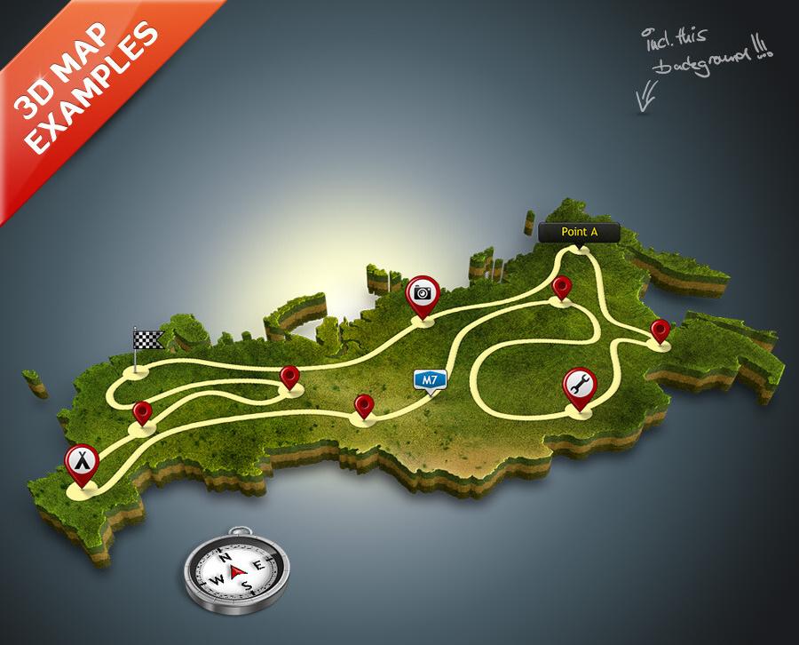 creazione mappe e cartine per il turismo