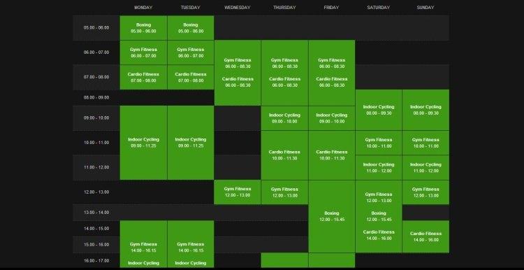 Siti web per palestre e fitness club con tabelle e sistema for Costo della palestra giungla