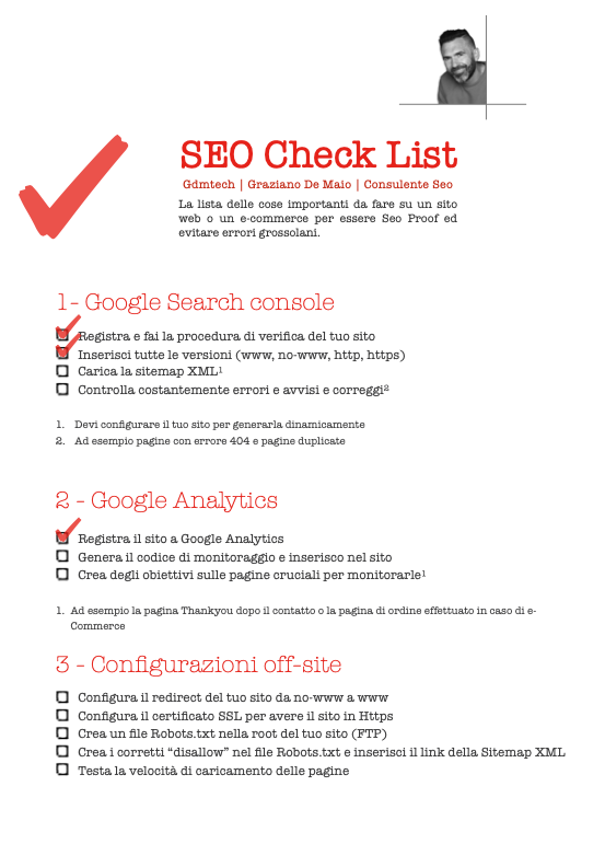 scarica la check list seo