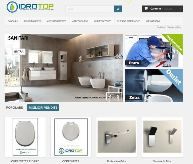 e-commerce per negozio di idrotermo sanitari