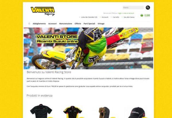 Ecommerce per Valenti Racing