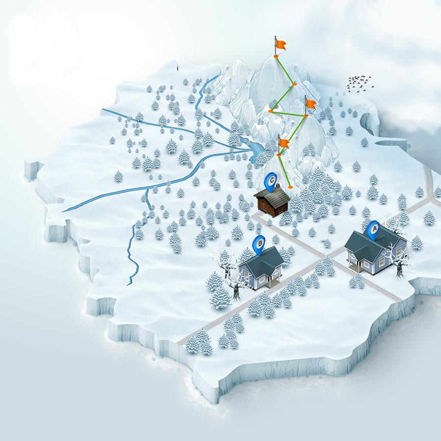 realizzazione mappe e cartine per impianti sciistici