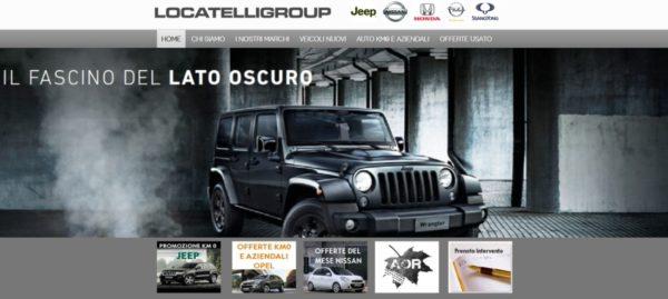 Locatelli Group – Sito per concessionaria auto Brianza