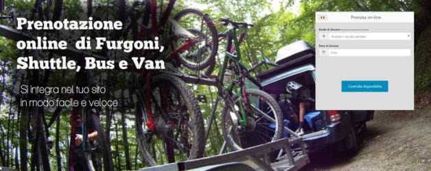 modulo prenotazione online di jeep, furgoni, bus, shuttle per lo sport.