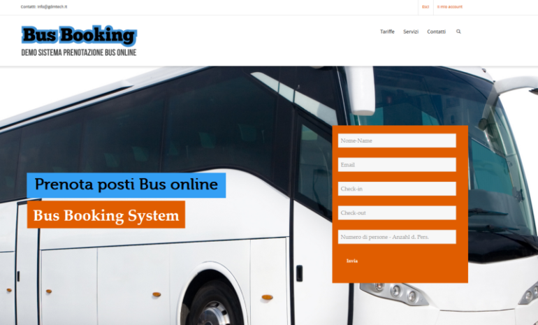sistema booking online bus e autobus