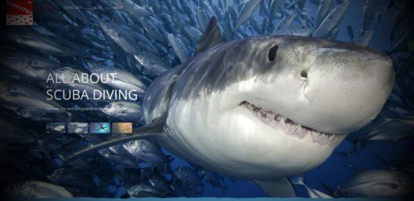 Catalogo spot di immersione nel mondo in Joomla