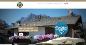 sito in wordpress per appartamenti Bormio