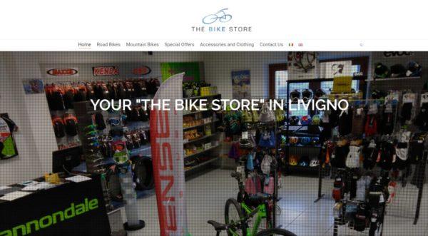 Sito in WP per negozio di Biciclette a Livigno