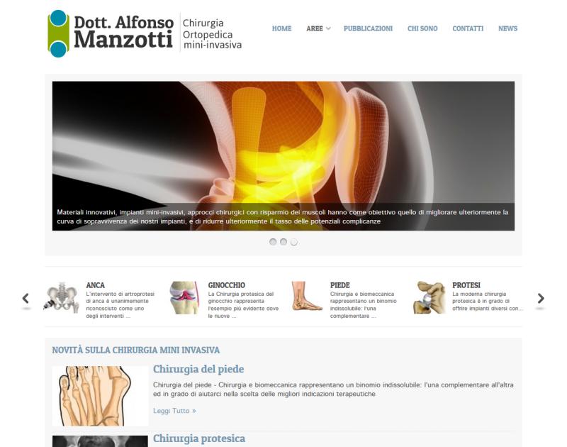 sito web per ortopedia