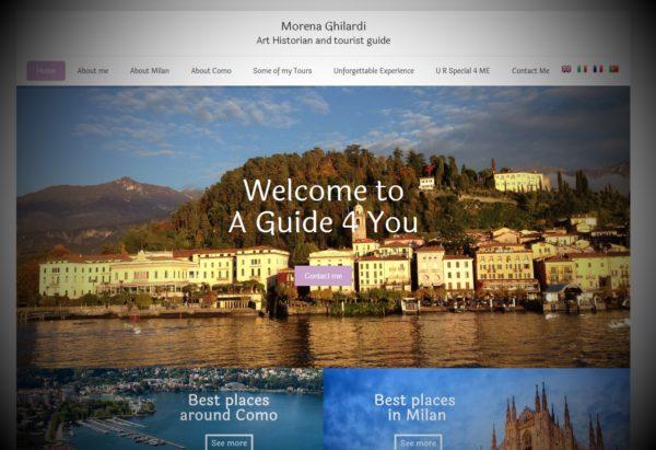 Sito web per guida turistica di Milano