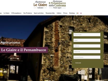 Sito in WordPress per agriturismo Le Giaire