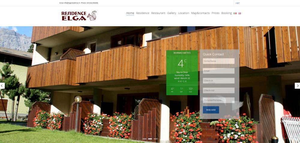 sito wordpress per residence bormio