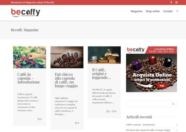 Sito in WordPress per content Marketing